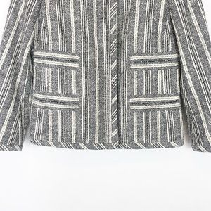 Coach Jackets & Coats - COACH Navy White Heritage Striped Jacket, Size XS